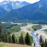 View from Glacier Park over Nyack Floodplain, Middle Fork of Flathead River