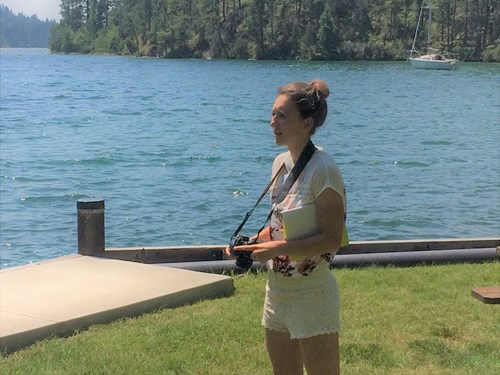 Environmental journalism intern Heather Fraley covers the Flathead Lake Biological Station Open House at Yellow Bay