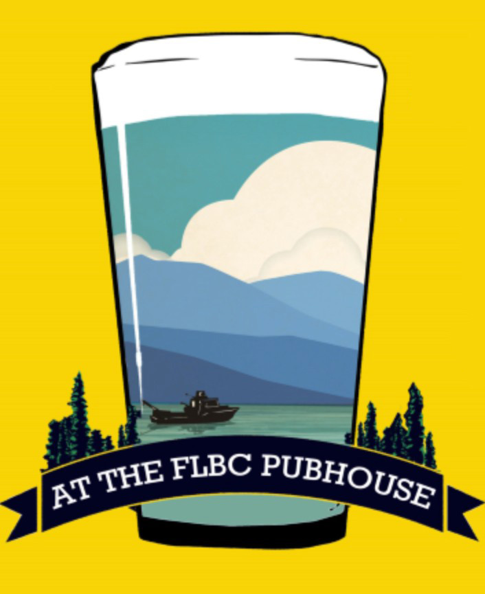 Science On Tap Flathead pint glass logo