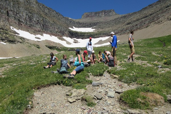 Alpine Ecology students observe high mountain processes