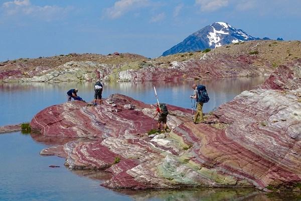 Researchers Prepare to Sample a Glacial Lake